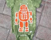 Robot Martian Baby Batik Onesie