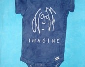Baby Onesie Batik John Lennon The Beatles Imagine Toddler Tee Shirt CUSTOM MADE