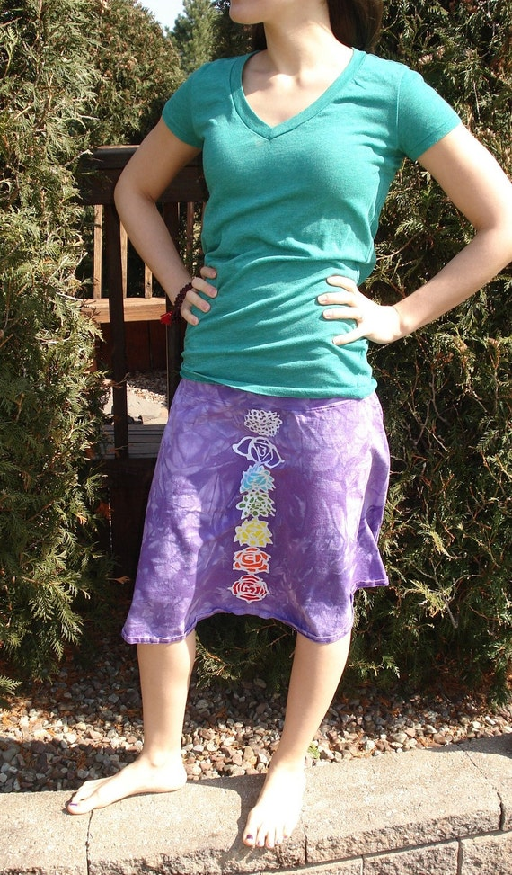 Chakra Yoga Skirt Cover Up Batik Rainbow Mandala CUSTOM MADE