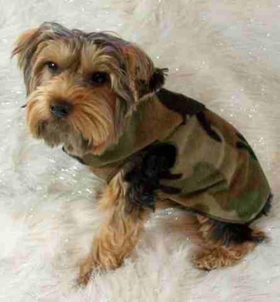Hunters Camo SNUGGLY Vest Dog Clothes - XXXS - SM