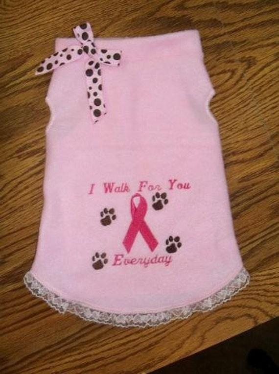 I Walk For You - Breast Cancer Dog Dress - XS - SM