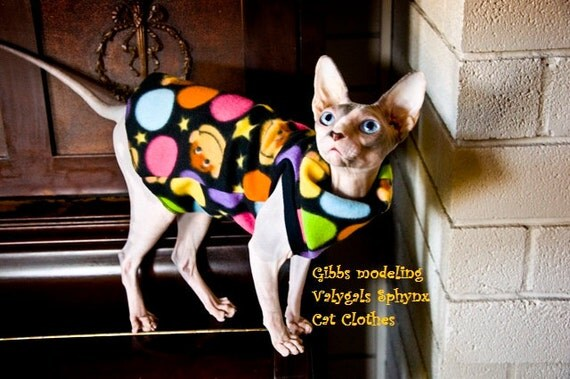 Hairless Cats in Clothes Sphynx Cat Clothes Monkey