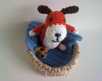 Crochet pattern The Dog with the Slipper Play set