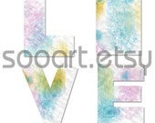 Digital Collage Sheet ALPHABET A-Z  Water colour painting  A4 Mixed Media Good for Scrapbook, Art, ACEO, Atc, Pendant etc.