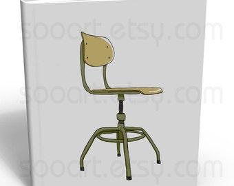 chair vintage -Digital Image Sheet -Original Illustrate Drawing  A4 Print transfer on Pillows, t-shirts, scrapbook, lampshades  ETC.v
