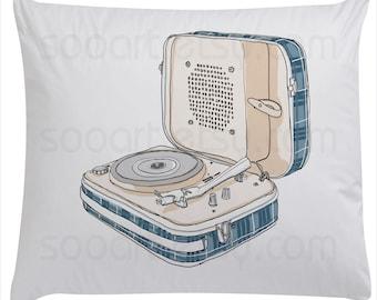 Vintage Turntable   -Digital Image Sheet -Original Illustrate Drawing  A4 Print transfer on Pillows, t-shirts, scrapbook, lampshades  ETC.v