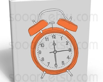 alarm clock -Digital Image Sheet -Original Illustrate Drawing  A4 Transfer Print Pillows, t-shirts, scrapbook, lampshades