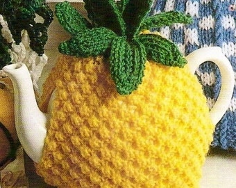 Pineapple Tea Cosy Vintage Knitting Pattern 354 sent by PDF