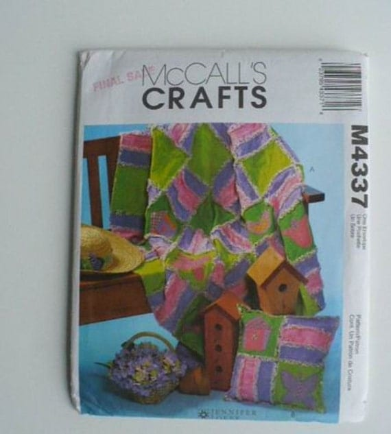 McCall s M4337 pattern rag quilt and pillow