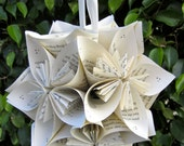 Large Harry Potter Book Paper Flower Ball Ornament