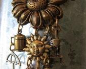 Gardening Magnet - Bronze Metal Garden Tools - OOAK Refrigerator Magnet   reserved for anne