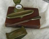 Vintage Art Deco Bronze Desk Set - Circa 1930's - 4 Pieces