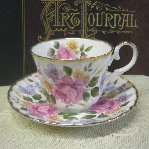 English Bone China Cup And Saucer from the Allyn Nelson Collection