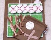 Tic-Tac-Toe Game - Baseballs and Bats