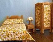 Fashion Doll Bedroom Set  -  Warm Brown