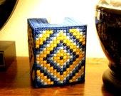 Boutique Tissue Box Cover - Trip Around the World