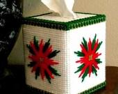Boutique Tissue Box Cover - Poinsettia