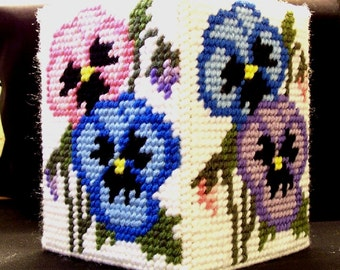 Boutique Tissue Box Cover - Pansy