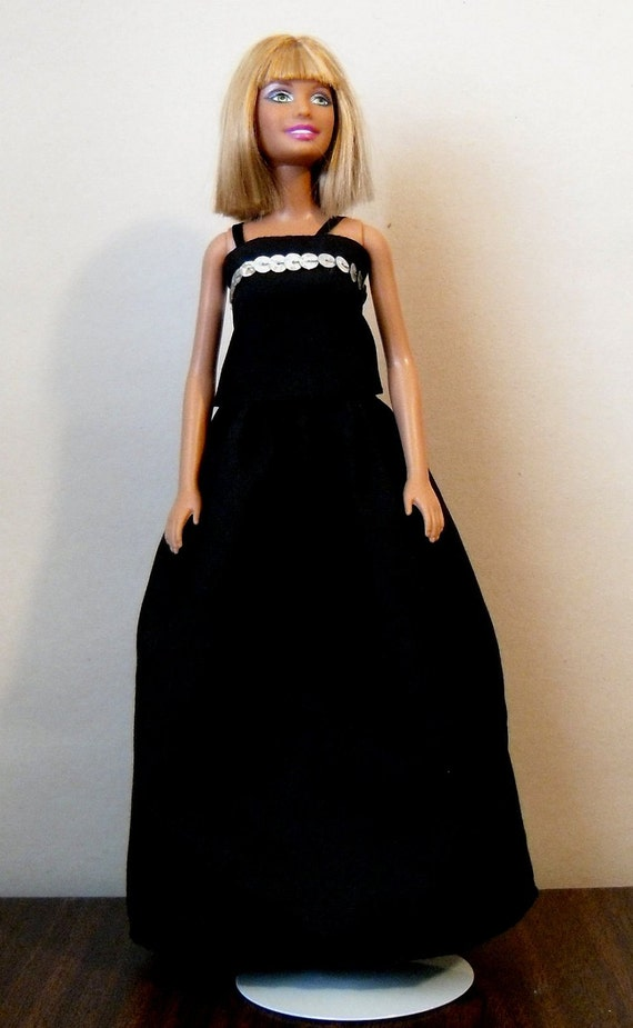 Fashion Doll Tank Top and Long Skirt - Black