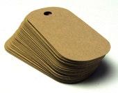 50 Blank Cardstock Dog Tags in recycled KRAFT . Medium . 2.5 x 1
