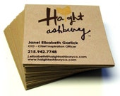 48 Custom SQUARE Recycled KRAFT Business Cards . Design and Printing