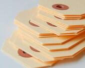 100 Raw Manilla Medium (size 3) Parcel Shipping Tags . 3.75 x 1.875