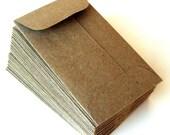 30 Mini Brown Bag Natural KRAFT Paper Envelopes . 2.25 x 3.75