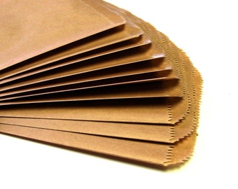 25 Medium Flat KRAFT Merchandise Bags . 6.25 x 9.25
