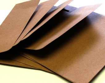 25 Natural Kraft RSVP Envelopes . 4Bar Envelopes . 3.625 x 5.125