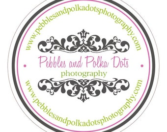Personalized LOGO Stickers or Tags . Double Outline