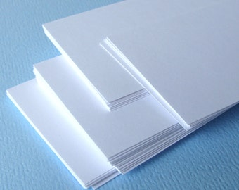 20 Mini Flat Cards in WHITE . Blank Place Cards, Business Cards or Tags . 2 x 3.5
