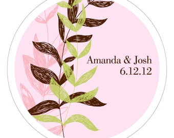 Whisper Vines . Personalized Wedding Stickers, Labels or Tags