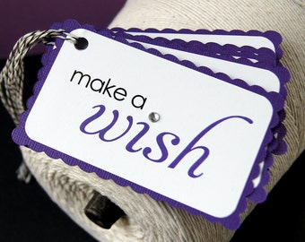 Make a Wish Birthday Gift Tags in Purple (Qty. 5)