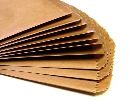 25 Medium KRAFT Paper Bags . 5 x 7.5