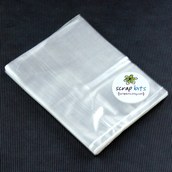 "100 High Clarity Flat Clear Bags for Favors, Treats, Packaging & Gift Wrap . 4"" x 5"""