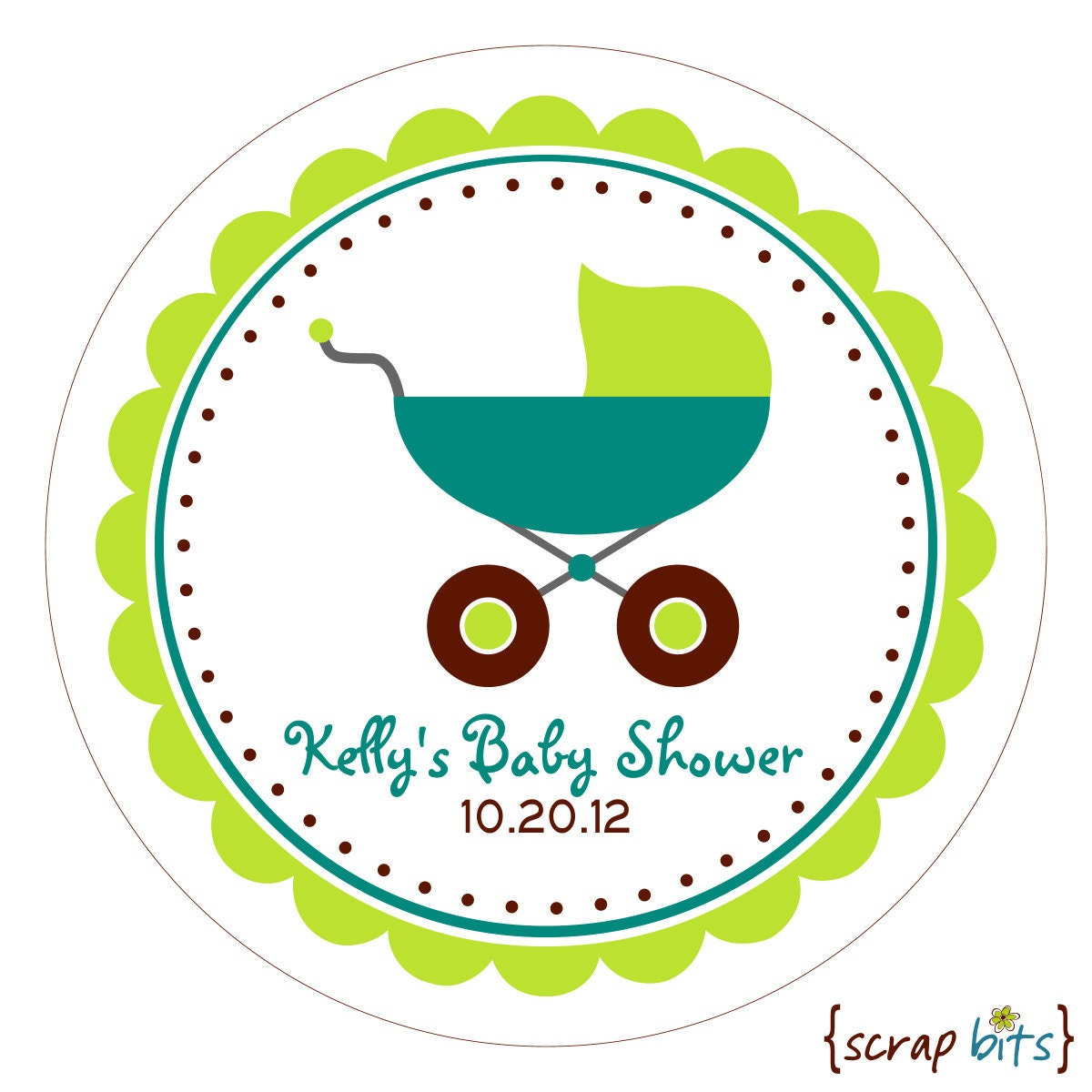baby stroller color block personalized baby shower