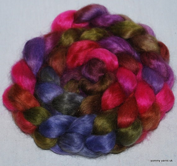 Handpainted Teeswater top roving spin felt  103g