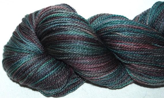 Reserved for Jo     SEACELL MERINO hand dyed Fingering yarn 144g skein