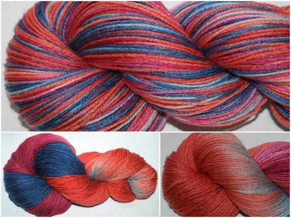BAMBOO MERINO Superwash  hand painted sock yarn 400m