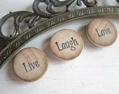 Today I Will...Live, Laugh & Love - magnets - set of 6