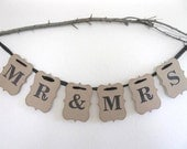 Mr and Mrs Banner - wedding banner