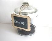 Chalkboard Tag - set of 4 -  rustic ornate CHALK CLOTH tag - wedding tag, wedding decor, organize, home decor - original design
