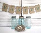 Custom MARY - Easter Banner - match blue/green letters - Easter decoration - Aqua blue/green color