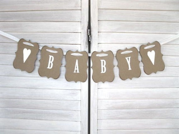Baby Banner rustic elegance baby shower baby photo shoot
