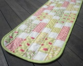 Table Runner Topper Quilted Cotton Beautiful Spring Colors