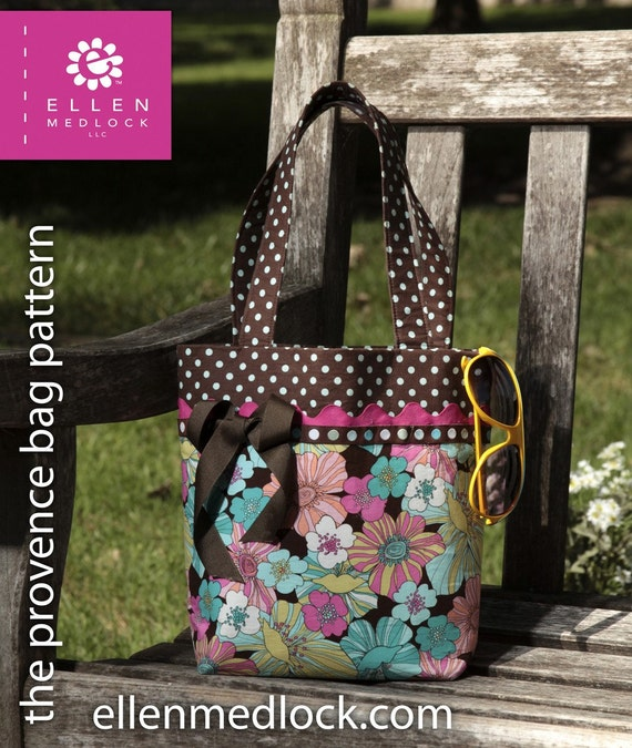 PDF Download of The Provence Bag Sewing Pattern (#101X)