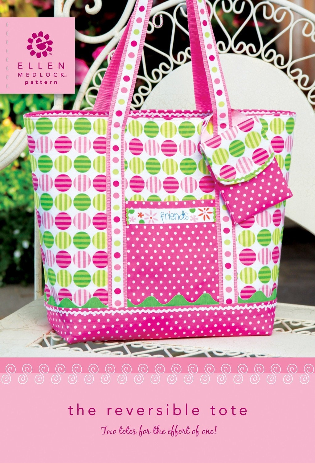 Pdf Download Of Reversible Tote Bag Purse Diy Sewing Pattern
