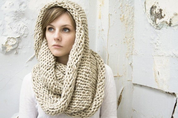 Large Wool Cowl - Circle Scarf - Infinity Scarf - Choose Your COLOR