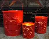 Upcycled Tin Can Lantern Set