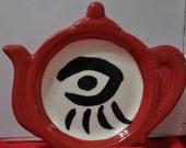 One Eyed Doll Kimberley Freeman Tea Bag Rest a Tea Pot Shape